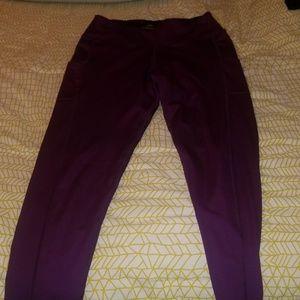 Purple running tights